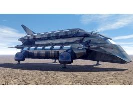 Sci-Fi Cargo Freighter Ship 3d preview