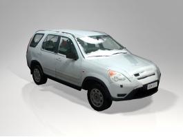 Low Poly Snow Car 3d preview