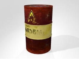 Rusty Oil Barrel 3d preview
