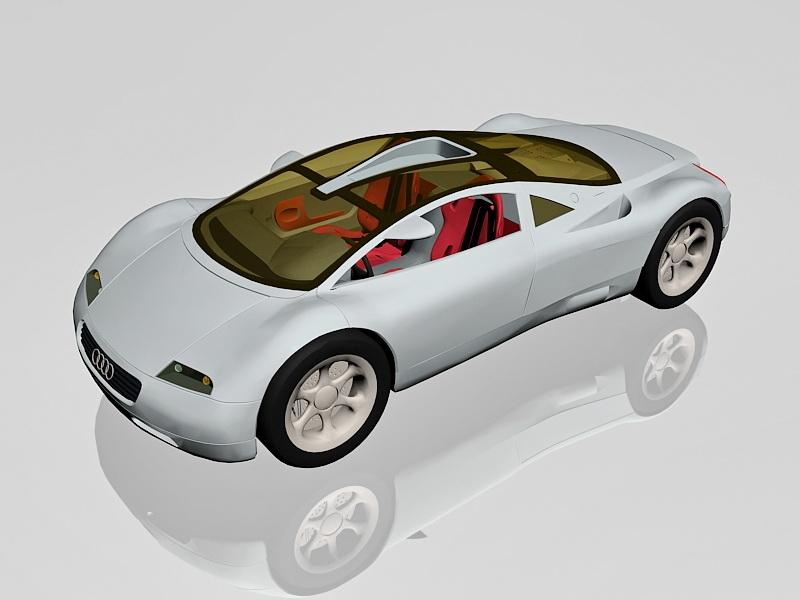 Audi Avus quattro Concept Sports Car 3d rendering