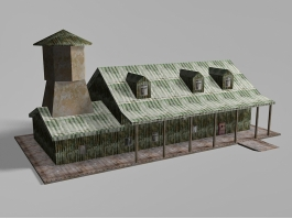 Empty Old House 3d preview