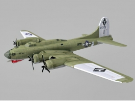 Boeing B-17 Flying Fortress Low Poly 3d preview