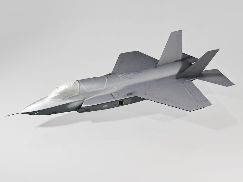 Air Force F-35 Lightning II 3d rendering