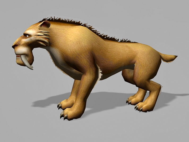 Ice Age Lion 3d rendering