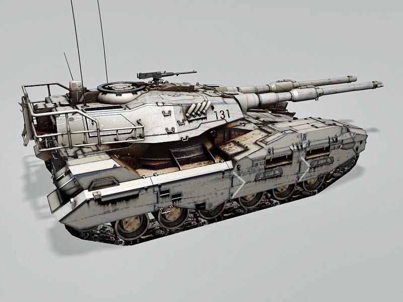 M61A5 Main Battle Tank 3d rendering