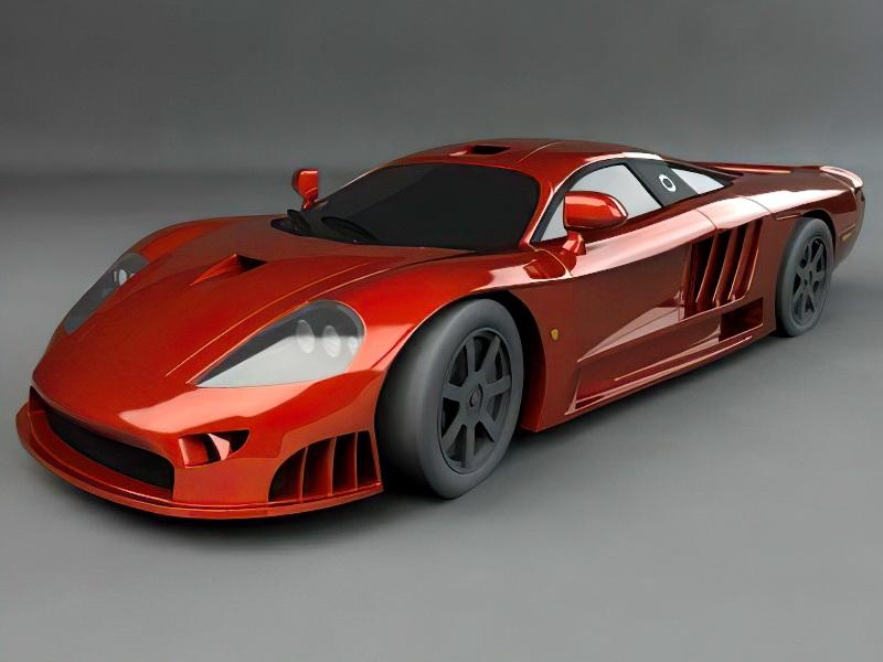 Red Super Car 3d rendering