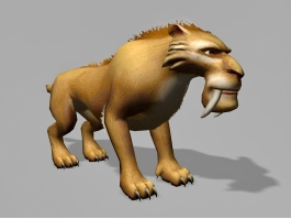 Ice Age Lion 3d preview