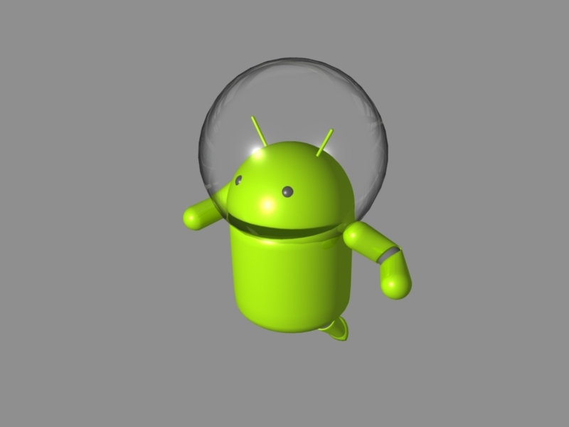 Android Astronaut Rig 3d rendering
