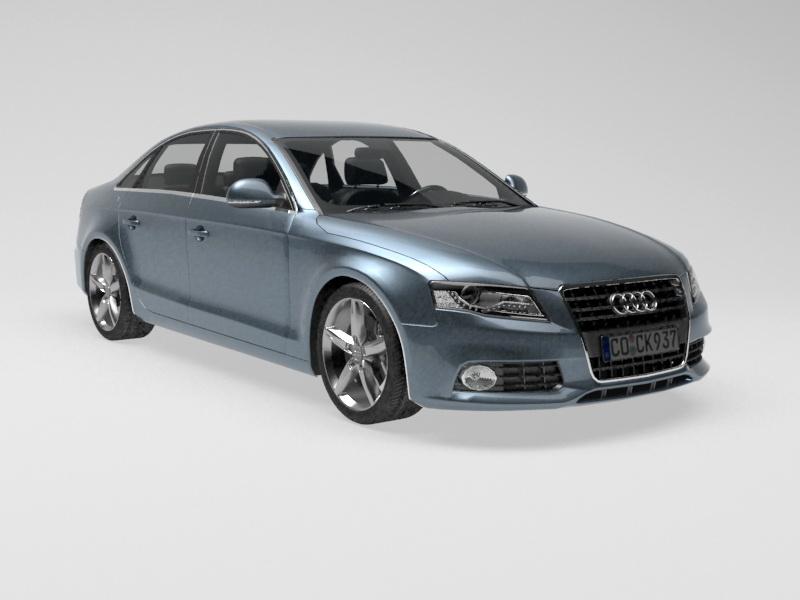 Audi A4 Car 3d rendering
