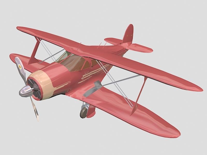 Beechcraft Model 17 Staggerwing 3d rendering