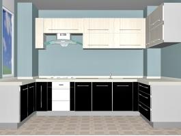 Classic Small Kitchen Design 3d preview