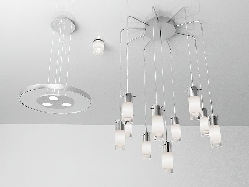 Modern Pendant Light Fixtures 3d rendering