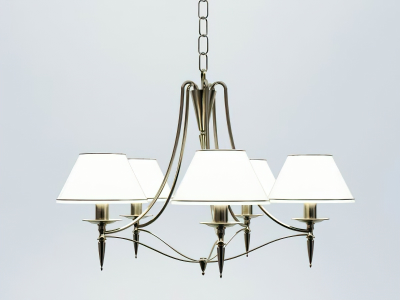 Retro Chandelier with Shades 3d rendering