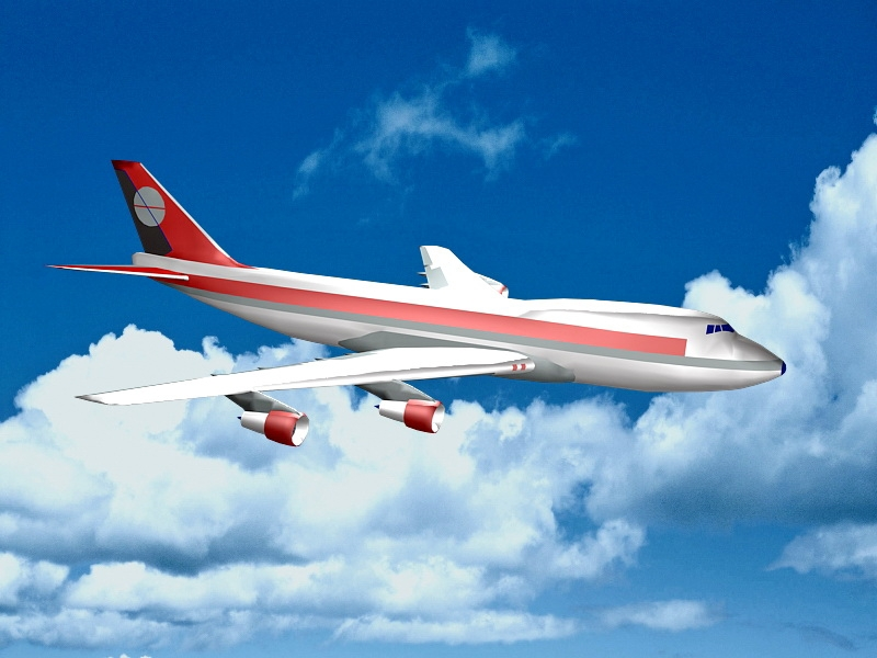 Flying Plane 3d rendering