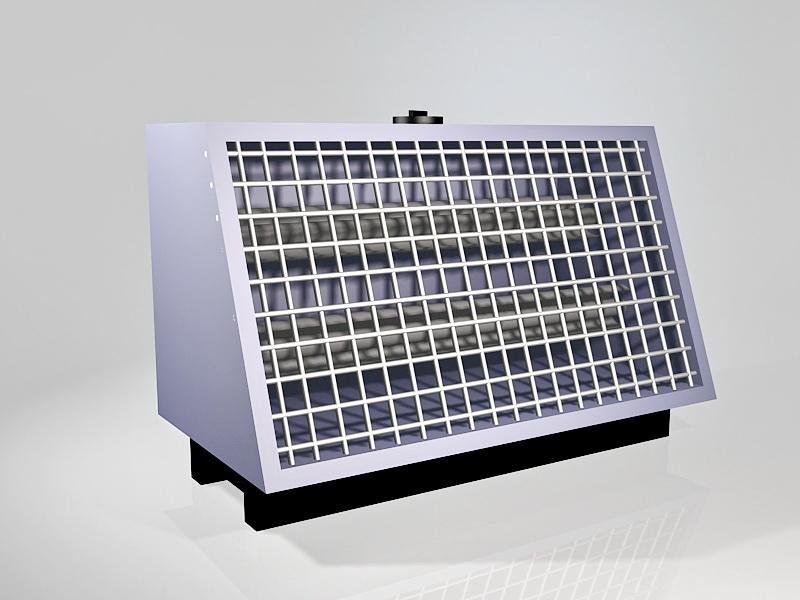 Vintage Space Heater 3d rendering