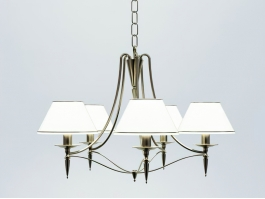 Retro Chandelier with Shades 3d preview