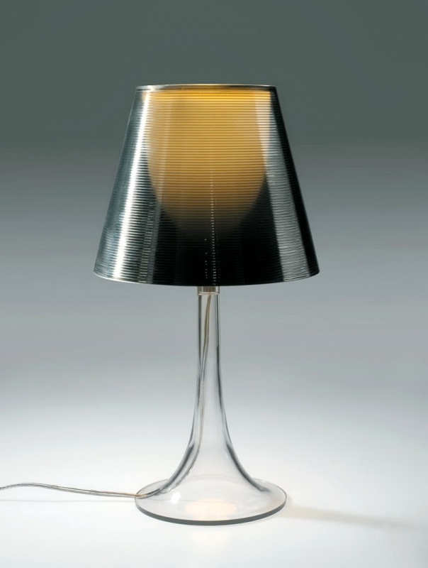 Clear Acrylic Table Lamp 3d rendering