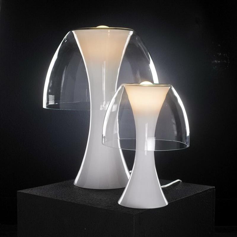 Minimalist White Acrylic Table Lamp 3d rendering