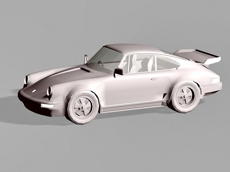 Sports Car Design 3d rendering