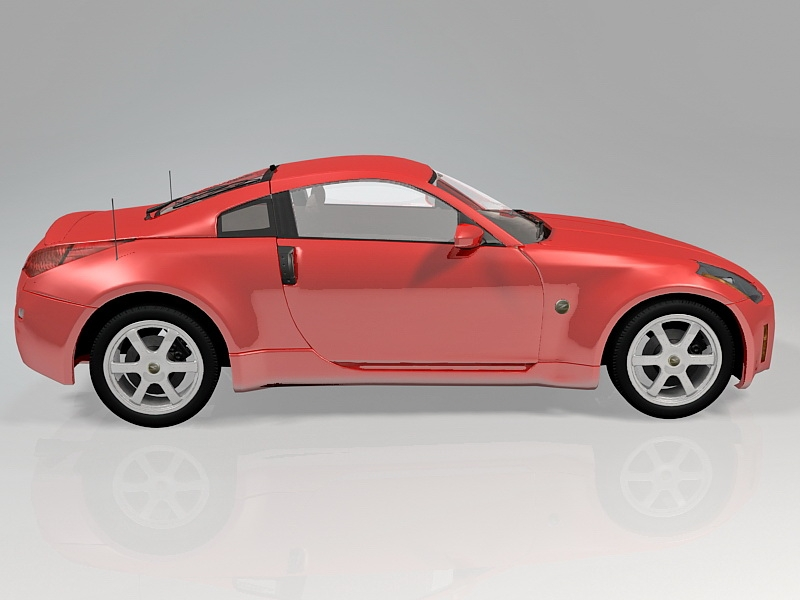 Nissan 350Z Sports Car 3d rendering