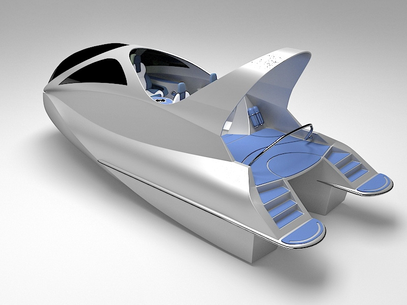 Mini Jet Capsule 3d rendering