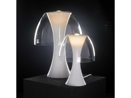 Minimalist White Acrylic Table Lamp 3d preview