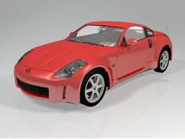 Nissan 350Z Sports Car 3d preview
