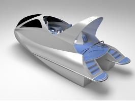 Mini Jet Capsule 3d model preview