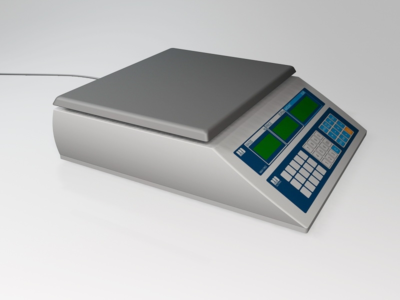 Price Computing Scale 3d rendering