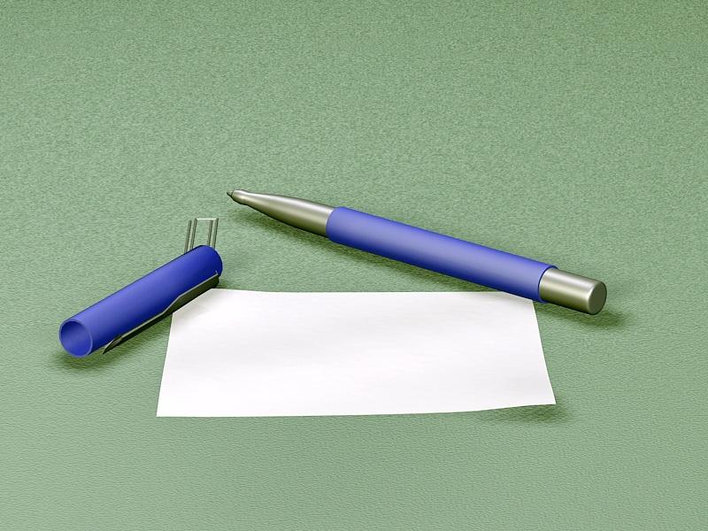 Pen and Paper 3d rendering