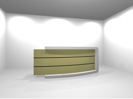 Retail Store Cashier Desk 3d preview