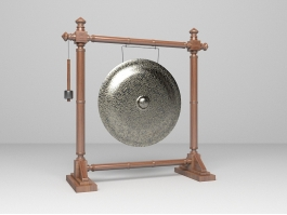 Chinese Gong Instrument 3d preview