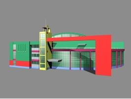 Supermarket Exterior Architecture 3d preview