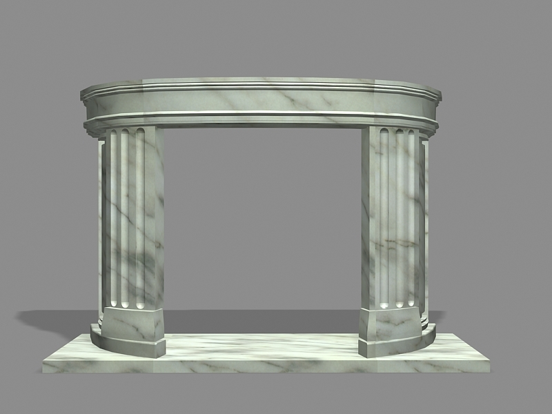 Marble Fireplace Mantel 3d rendering