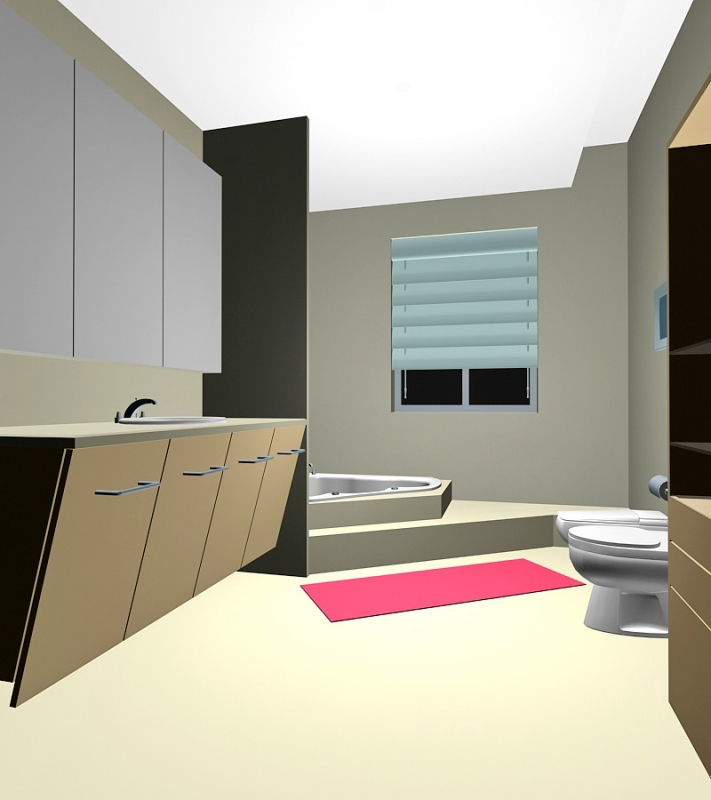 Small Bathroom Design Ideas 3d rendering