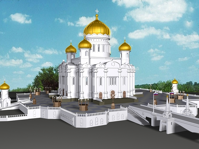 Mosque Architecture 3d rendering