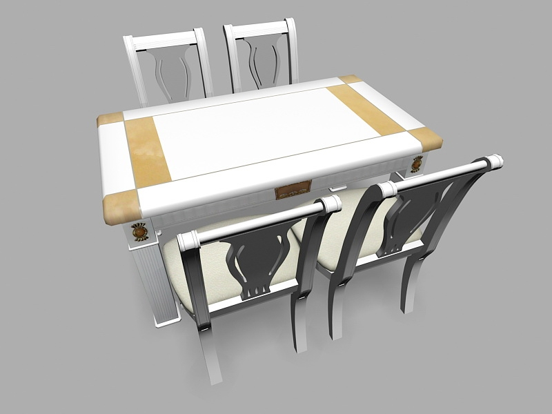 Small 5 Piece Dining Set 3d rendering