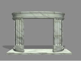 Marble Fireplace Mantel 3d preview