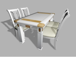 Small 5 Piece Dining Set 3d preview
