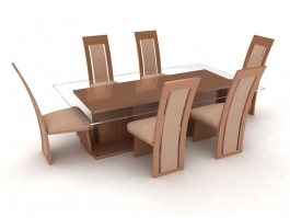 7 Piece Dining Room Set 3d preview