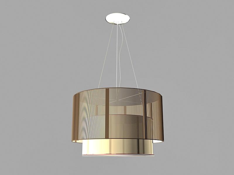 Modern Drum Pendant Lighting 3d rendering