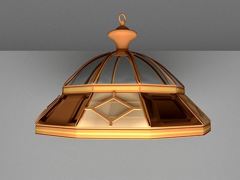 Vintage Pendant Light Fixture 3d rendering