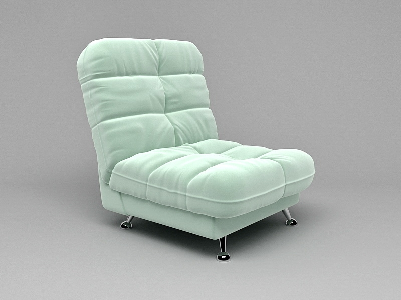 Upholstered Tufted Accent Chair 3d rendering