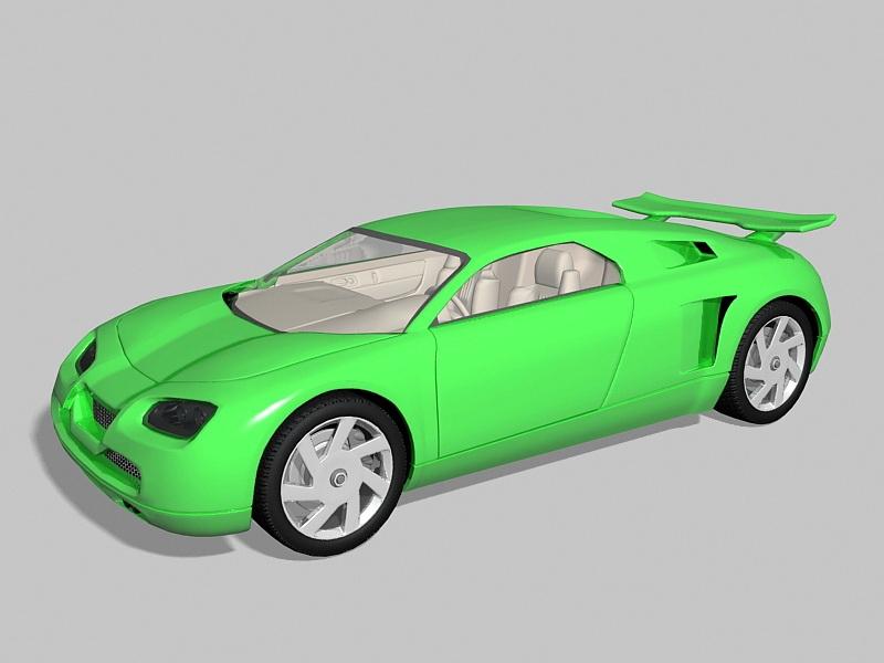 Super Sport Car 3d rendering