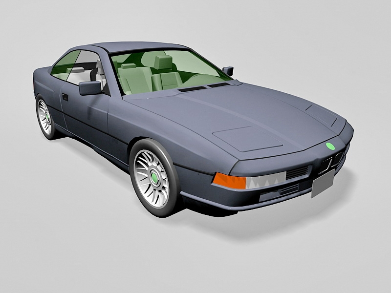 BMW 850 Coupe 3d rendering
