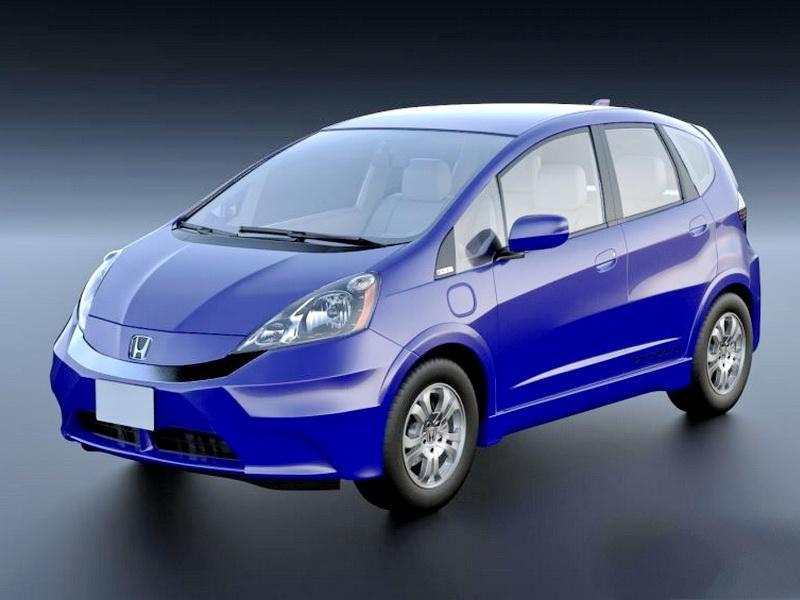 Honda Fit EV Electric Car 3d rendering