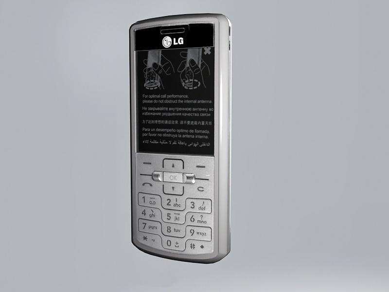 LG KG77 Shine 3d rendering