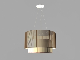 Modern Drum Pendant Lighting 3d preview