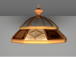 Vintage Pendant Light Fixture 3d preview