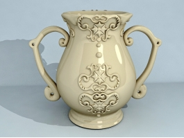 Glazed Pottery Vase 3d preview